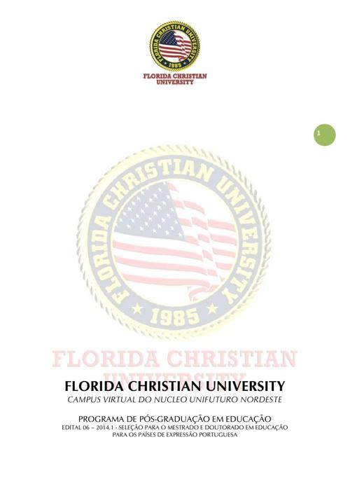 FLORIDA CHRISTIAN UNIVERSITY - EDITAL 6/ 2013.2