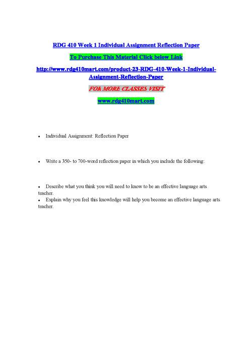 RDG 410 MART Leading through innovation/rdg410martdotcom