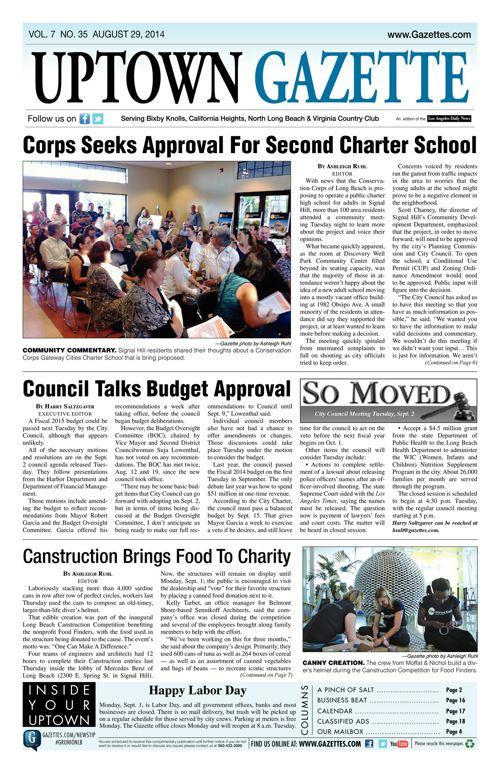 Uptown Gazette  |  August 29, 2014