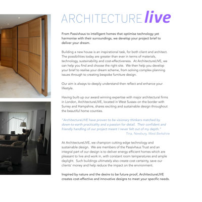 ArchitectureLIVE Residential NewBuild Services
