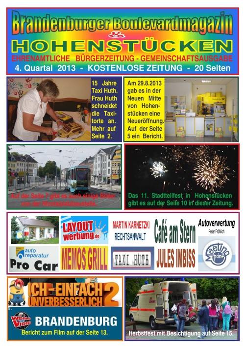 Brandenburger Boulevardmagazin und HOHENSTÜCKEN