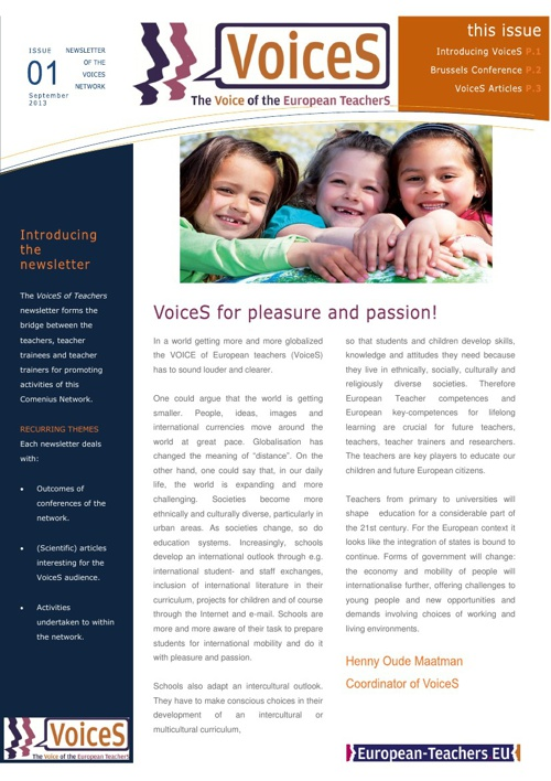 VoiceS Newsletter Issue 1