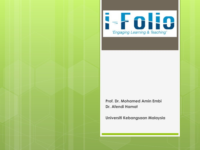 ifolio Presentation