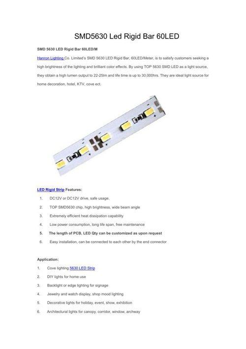 SMD5630 Led Rigid Bar 60LED