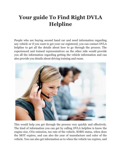 Your guide To Find Right DVLA Helpline