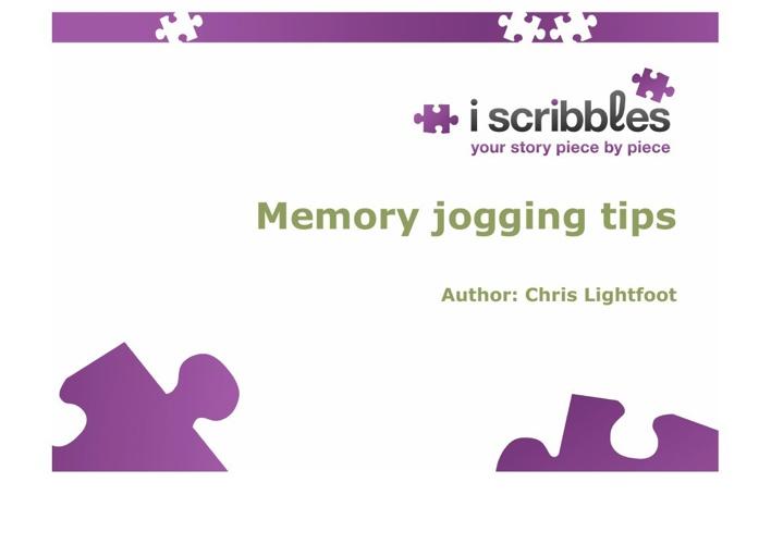 Memory Jogging Tips Flip Book