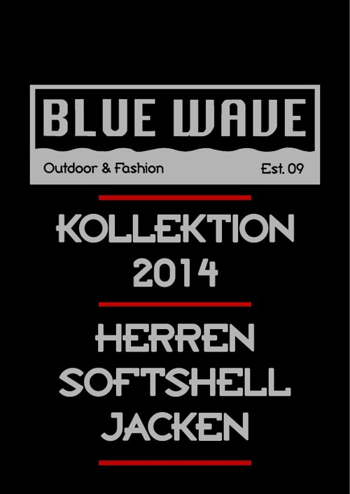 HERREN SOFTSHELLJACKEN BLUE WAVE KATALOG 2014