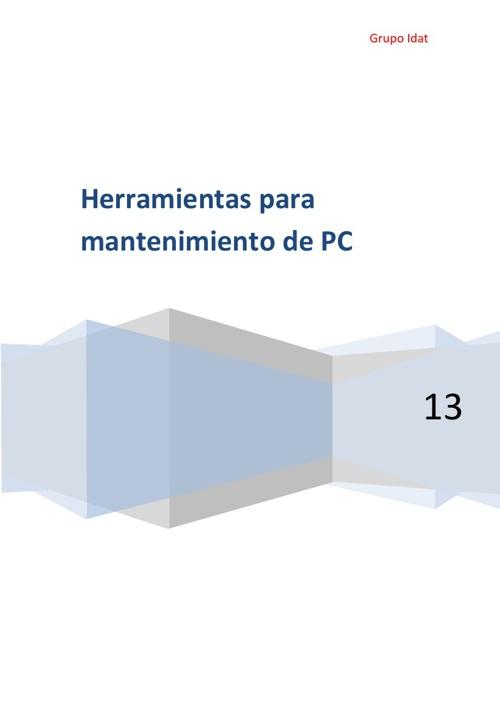 Herramientas necesarias para el mantenimineto de una PC