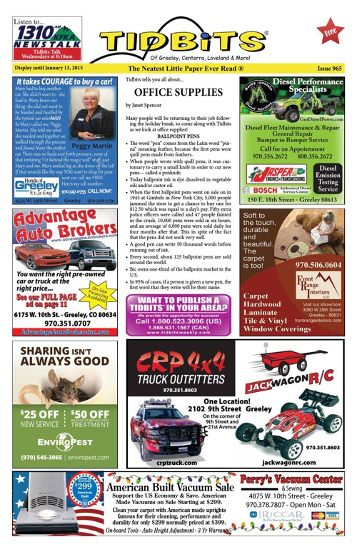Tidbits of Greeley/Centerra/Loveland, Issue 965