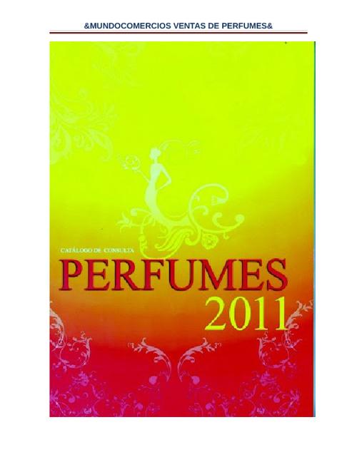 Catalogo de Venta de Perfumes 2012
