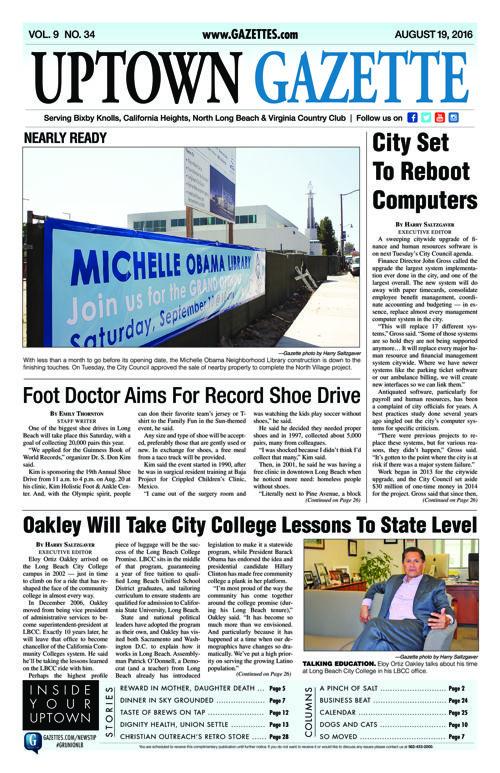 Uptown Gazette     August 19, 2016