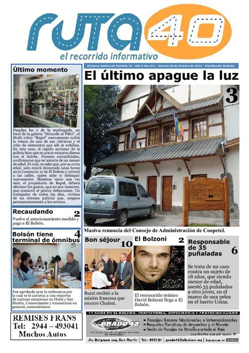 Diario Viernes 26 de Octubre de 2012