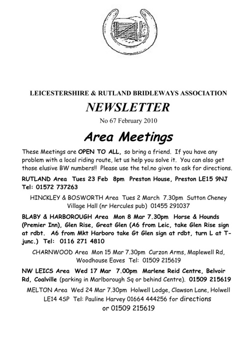 2010 Newsletters