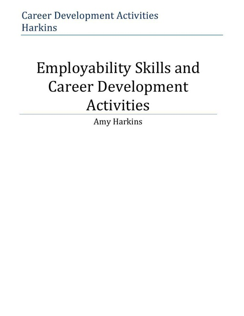 Career Development & Employability Skills Activities - Harkins