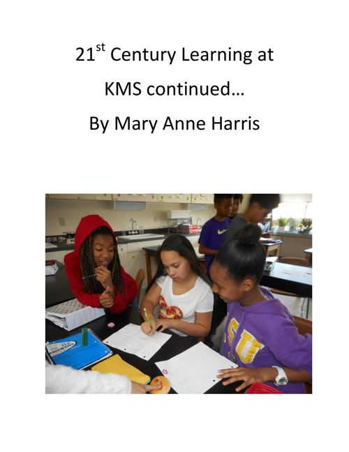 21st Century Learning cover page vol 3 Harris, KMS