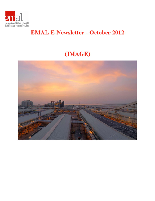 EMAIL E NEWS LETTER- OCTOBER 2012