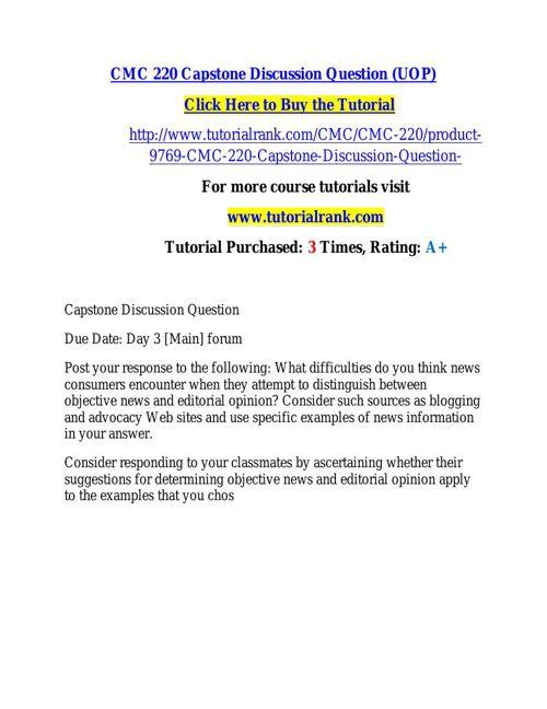 CMC 220 learning consultant / tutorialrank.com