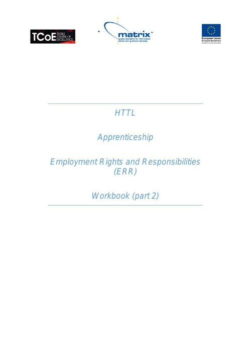 QR202 Employment Rights & Responsibilities July 2015 pt2