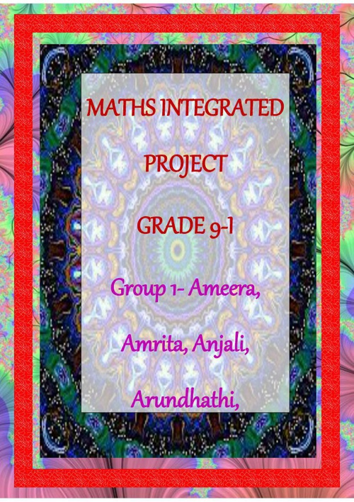Maths project group 1