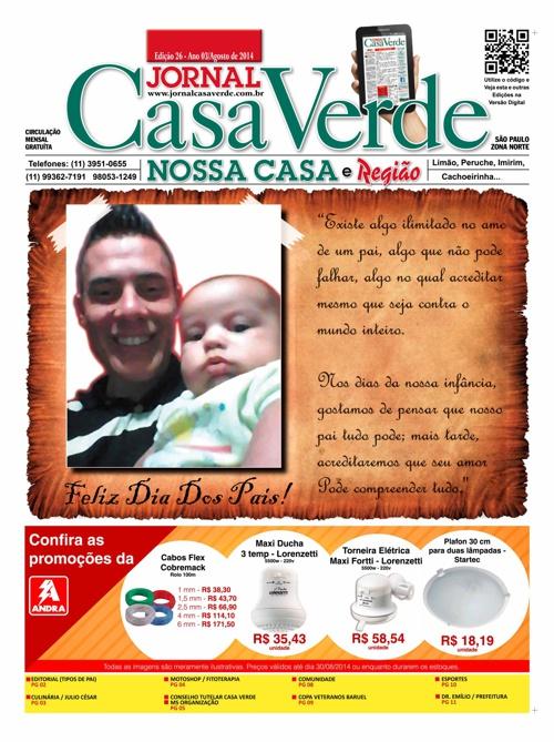 Jornal da Casa Verde - 26ª Edição em Agosto de 2014