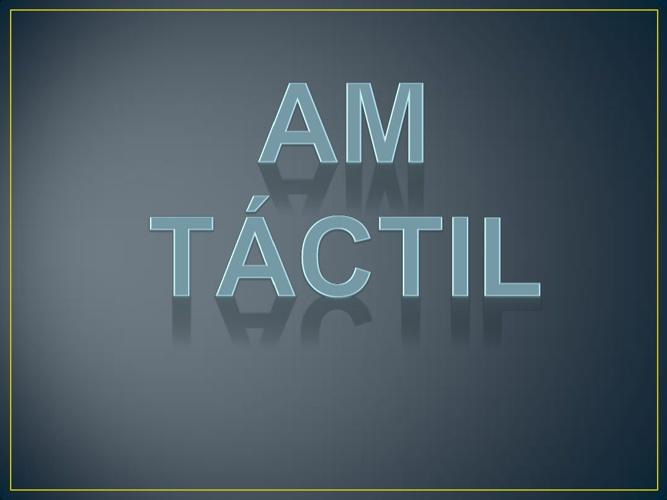 AM Tactil (manual)
