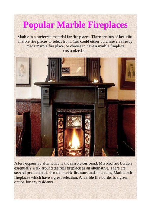 Popular Marble Fireplaces