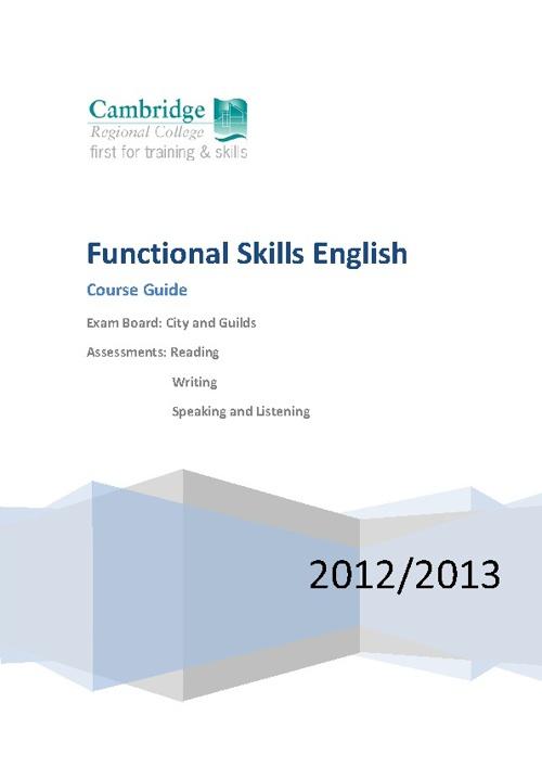 Functional Skills Handbook