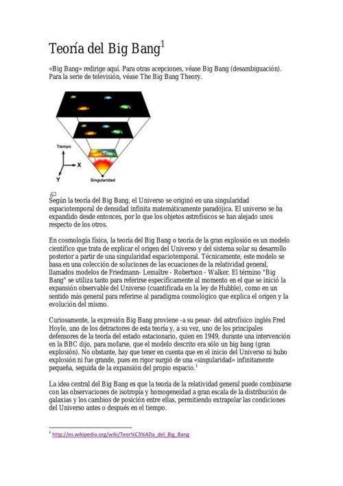 Teoría del big