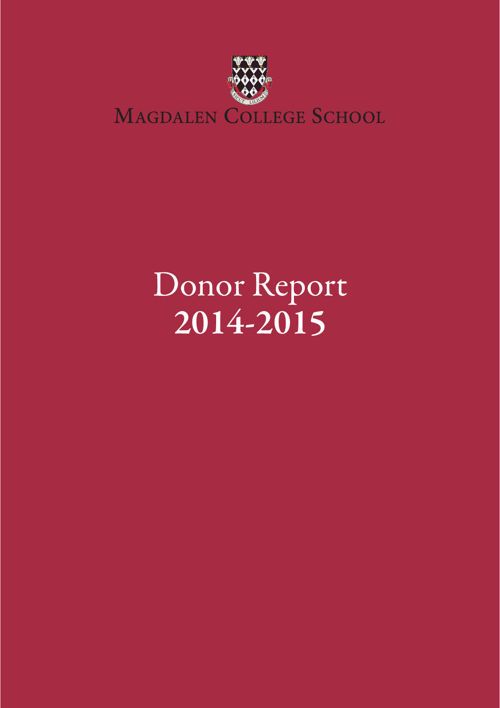 Donor report 2014-15