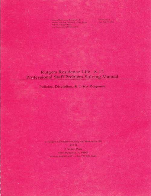 Rutgers University Crisis Response Manual