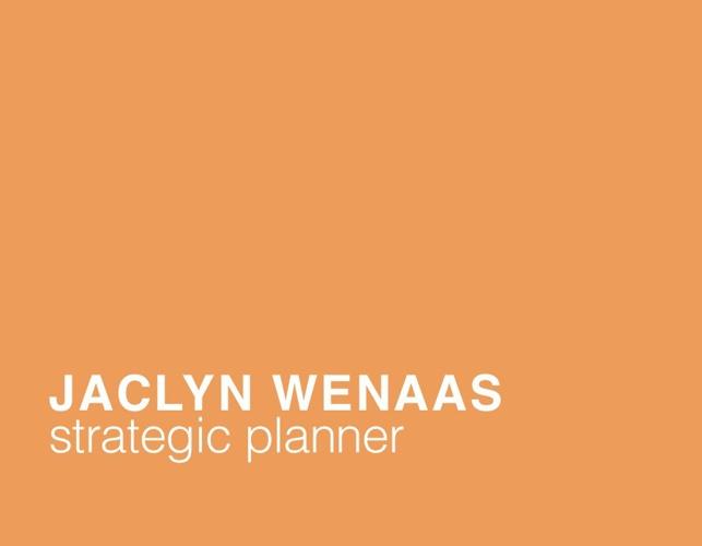 Jaclyn Wenaas_Strategic Planning Portfolio