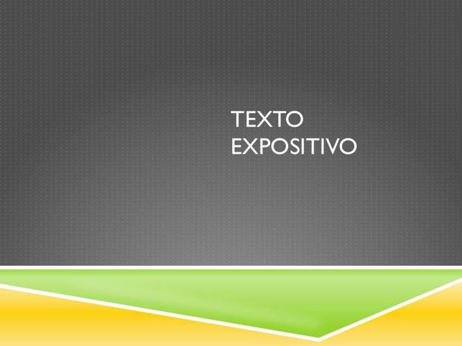 Texto expositivo 3º secundaria