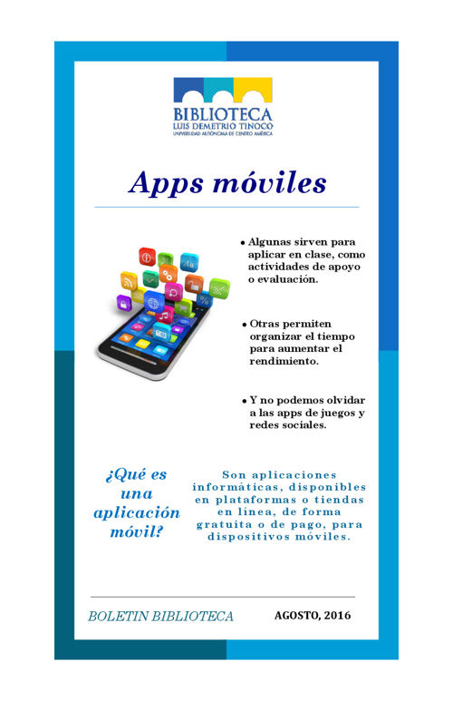 BOLETIN AGOSTO APPS MOVILES