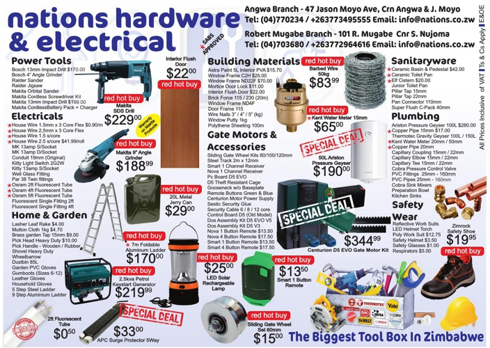 Nations Hardware Specials
