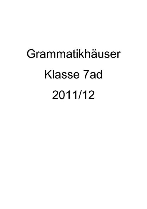 Grammatikhaeuser 2011-12