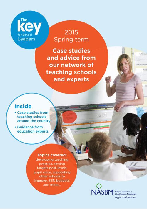 Case studies and advice from teaching schools and experts