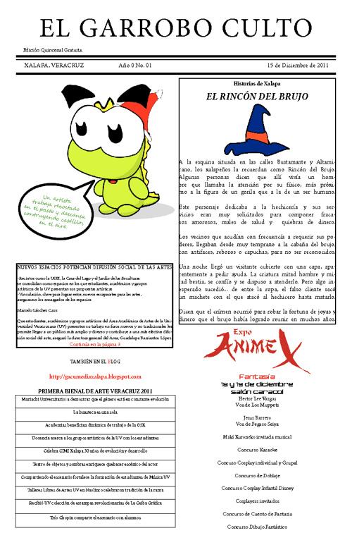El Garrobo Culto No. 01 Date: 15/12/2011