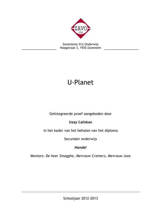 Finalist: U-planet