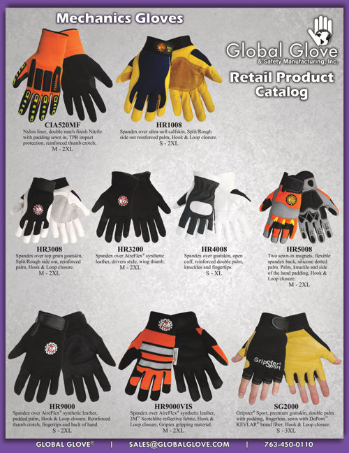 Global Glove Retail Products Catalog