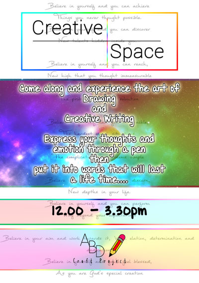Creative Space A4 Poster coloured 1