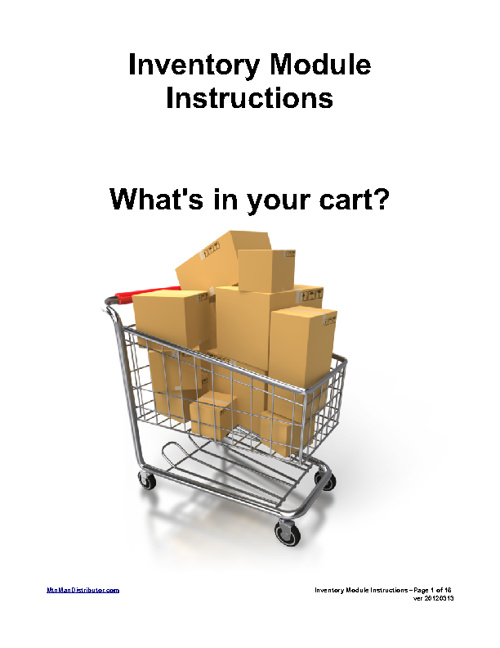 Inventory Module Instructions