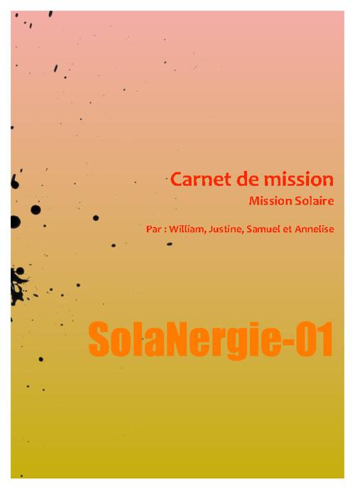 Carnet de mission solaire