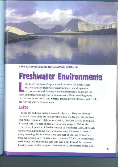 Freshwater Environments