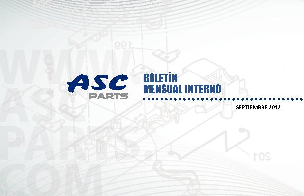 ASC Parts .::Boletín Septiembre 2012::.