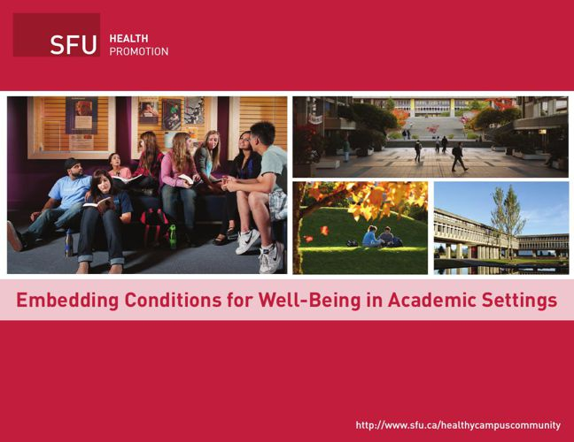 Embedding Conditions for Well-Being in Academic Settings