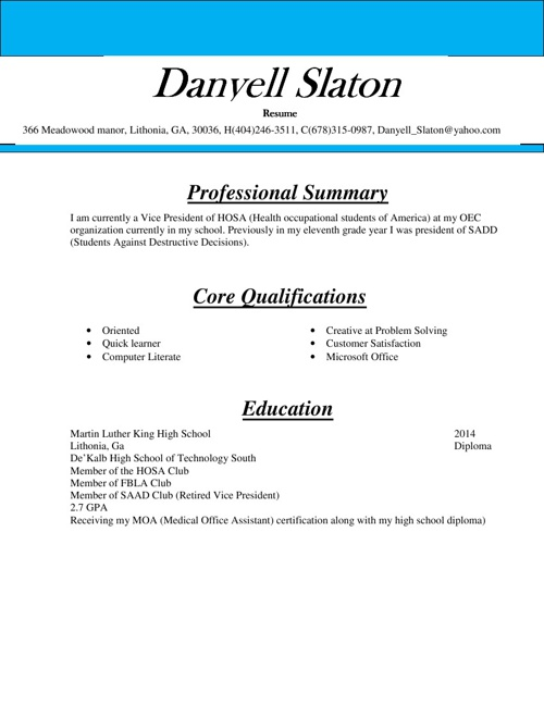 DANYELL COVER LETTER