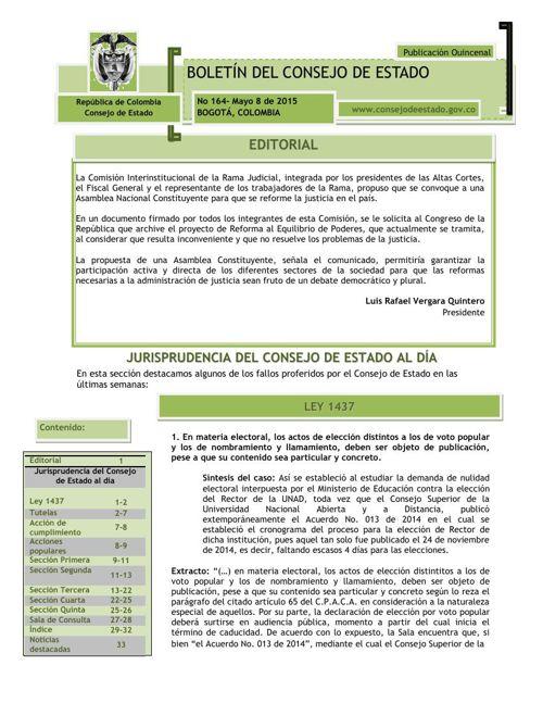 BOLETIN 164 DEL CONSEJO DE ESTADO