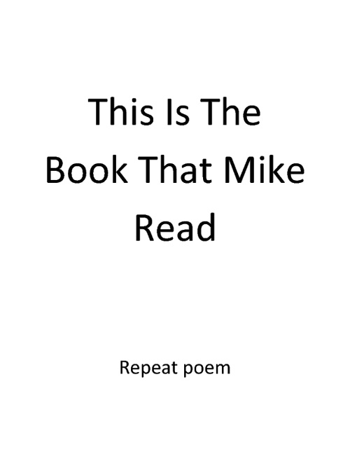 The book that Mike read