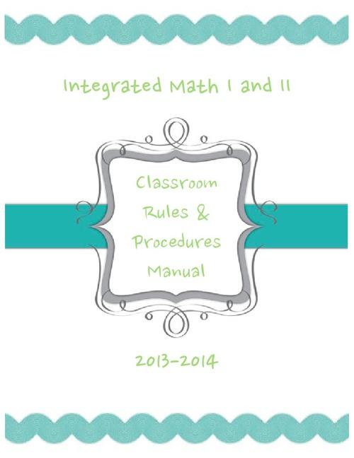2013-2014 Procedures Manual