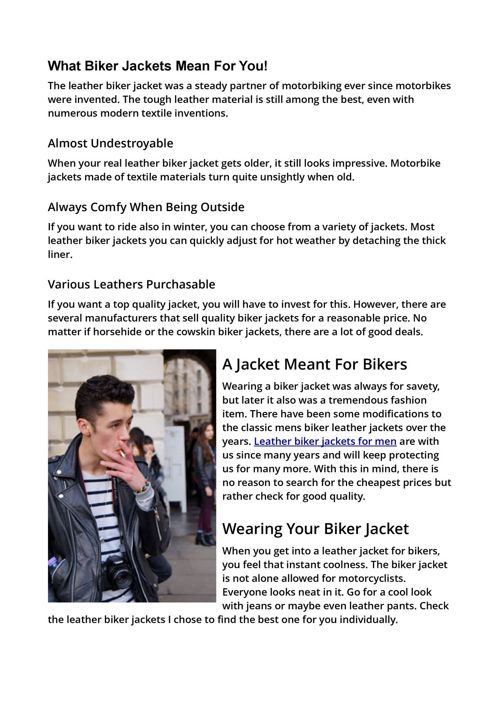 Story of the leather biker jacket